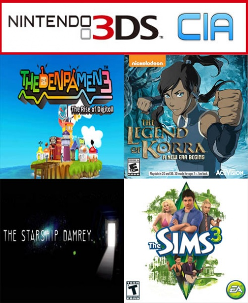 3DS ROMS . CIA DOWNLOAD - RXTOOLS/REINAND NINTENDO 3DS ...